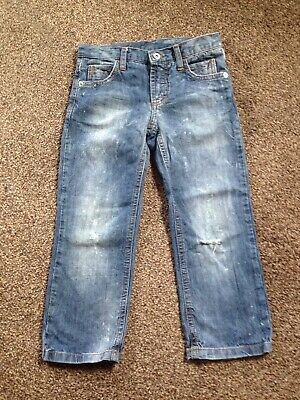Boys D&G Dolce&Gabbana Junior Ripped Faded Jeans size 4Y / 101-107CM.
