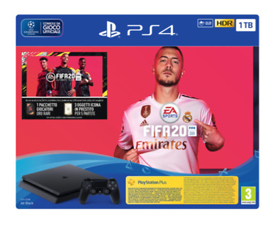 Console Ps4 Playstation 4 1Tb Hdr + Fifa 20 Nuova