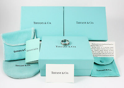 Anneau Tiffany & Co Argent Collection Atlas 1995 Taille 14/15