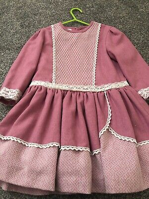 Designer Girls Spanish Dress Age 8 In Very Good Condition Wore 2 Time