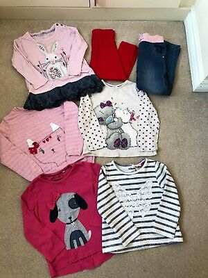 Bundle Girls Clothes Long Sleeve Top & Bottoms Age 3-4 years (7 Items)