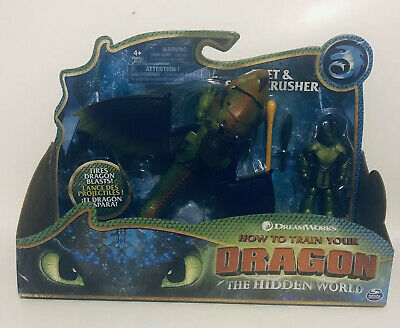 How To Train Your Dragon Eret & Skull Crusher Dreamworks Action Figures 2019 NEW