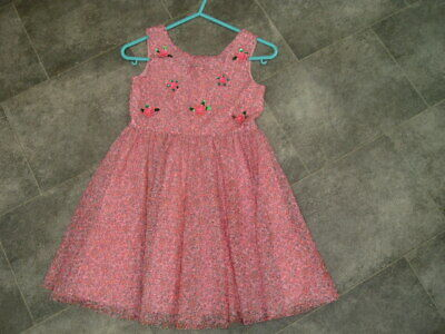 Age 7 Years Monsoon Girls Pink Ditsy Floral Dress