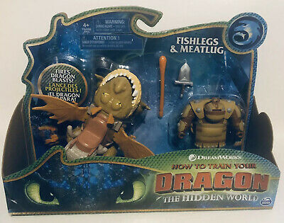 How To Train Your Dragon Fishlegs & Meatlug Dreamworks Action Figures 2019 NEW!