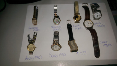 Fabulous bundle of 8 mixed watches - 1950's - 1990's
