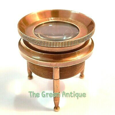 Brass Antique Magnifier Maritime Collectible Gift