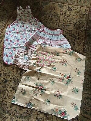 Lot Of Vintage Fabric Apron Childs Clothing 1940s Crafts Sewing Cutters