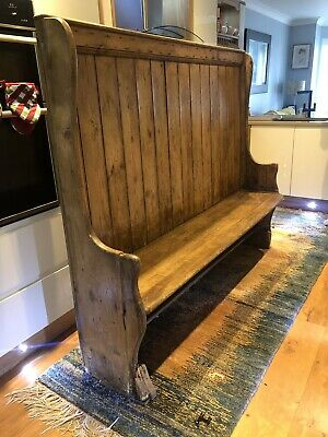 18th Century Antique Pine Pub Settle