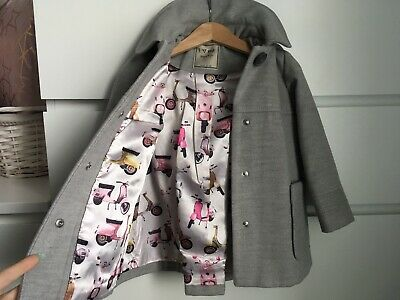 Girls NEXT 2-3 years 🛵🛵 Vespa 🛵🛵 Grey coat jacket Immaculate Condition