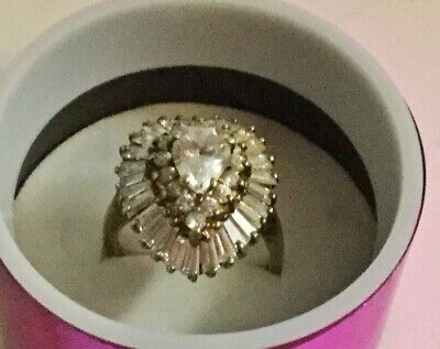 Lovely Gold Vermeil Cocktail Ring Size 7.5