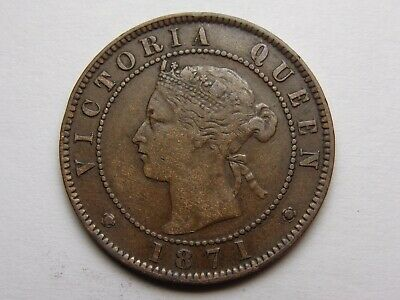 1871 Prince Edward Island Canada Victoria Large Cent Xf Very Nice! Must See!!