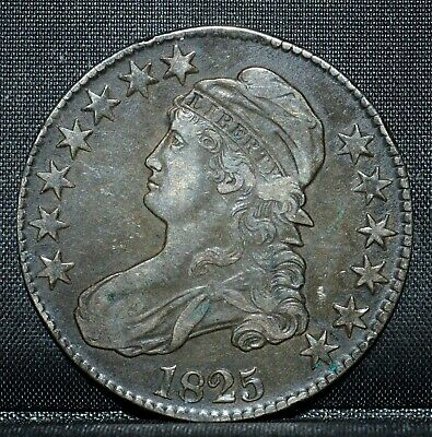1825-P Capped Bust Half Dollar ✪ Xf Extra Fine ✪ 50C Silver L@@K Now ◢Trusted◣
