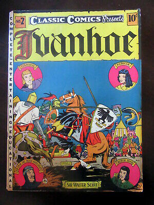 1941 Ivanhoe Classic Comics Classics Illustrated No. 2 First Edition VG Nice