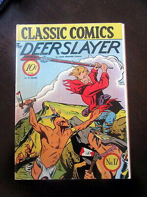 1944 1940s Classic Comics The Deerslayer No. 17 First Edition Nice VG or VG+