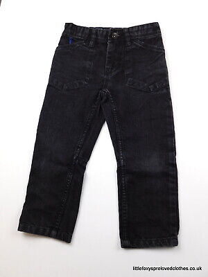 4 year Matalan boys black jeans trousers straight stylish
