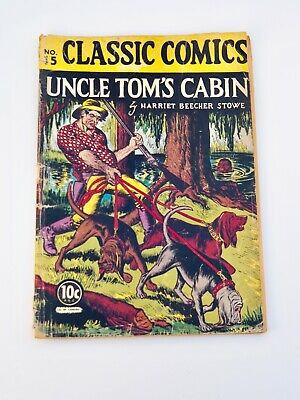 Classic Comics #15 HRN 14 - Uncle Tom's Cabin-1st edition 11/1943