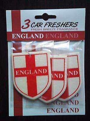 England/St George Shield Car Air Fresheners. 3 pack. New