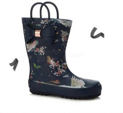Girls Ted Baker Wellies Navy Blue Size 5 BNWT