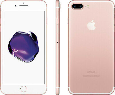 Sprint Apple iPhone 7 Plus + 32GB Rose Gold 4G LTE GSM Smart Cell Phone *READ*