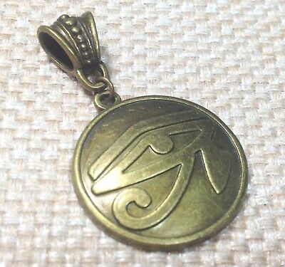 EYE OF HORUS_Bronze Pendant for Thick Chain or Euro Necklace_Ra Egypt Ancient