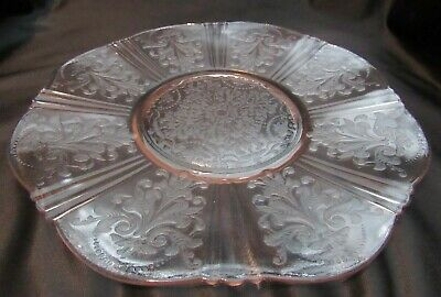 Vintage Pink Depression Glass American Sweetheart 12 Inch Salver Serving Plate