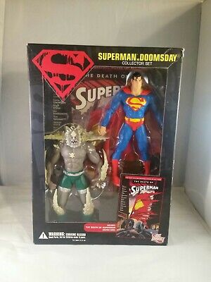 DC Direct Death of Superman VS Doomsday Figure Collector Set Comic TP book