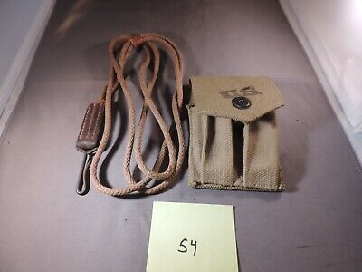 1911 1911A1 WW2 magazine pouch stamped BOYLE 1944 and correct pistol lanyard