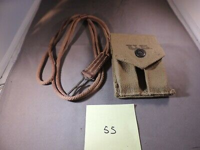 1911 1911A1 WW2  magazine pouch stamped BOYLE 1942 and correct pistol lanyard