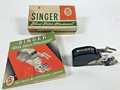 Vintage Singer Blind Stitch Attachment 160616 with Original Box & Instructions