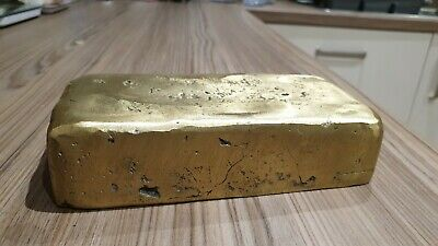 Brass Ingot Bullion Bar 3.8 Kg  Hand Poured (A-001-Br)