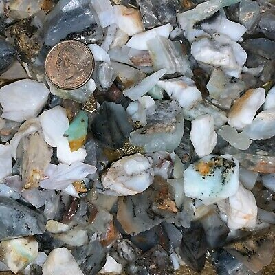 3000 Carat Lots of SMALL Blue Opal Rough - Plus a FREE Faceted Gemstone