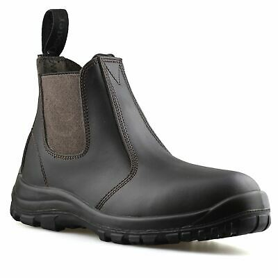 Mens Leather Wide Fit Chelsea Ankle Boots Casual Smart Dealer Work Shoes Size