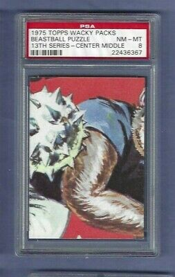 Wacky Packages 1975 Beastball Puzzle Psa 8 C/M Pack Fresh