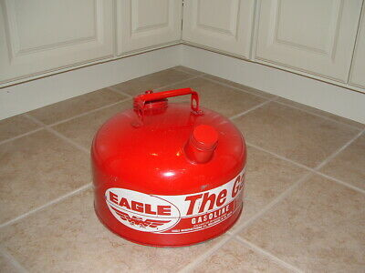 Vintage Eagle The Gasser Metal 2 1/2 Gallon Gas Can *Excellent*