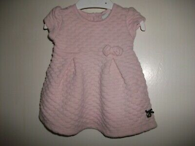 Jasper Conran Baby Girls Dusty Pink Quilted Effect Dress - Age 0-3 Months
