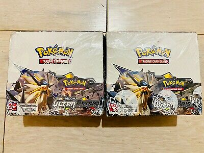 Two Pokemon Tcg Sun & Moon Ultra Prism Booster Boxes- English New