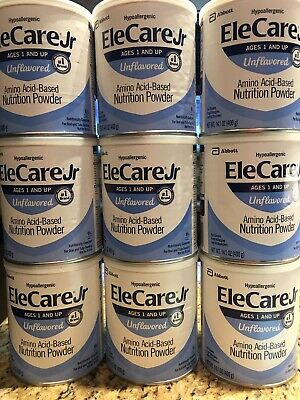 9 Cans of EleCare Jr. Unflavored Powder formula FREE SHIPPING