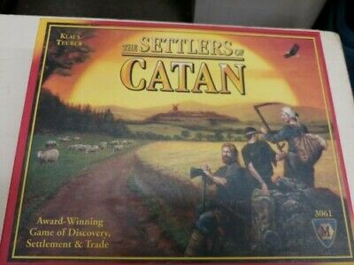 The Settlers Of Catan 3061 Board Game Klaus Teuber 100% Complete