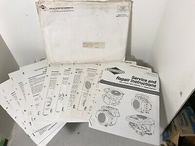 Briggs & Stratton Repair Manual 4 Cycle Twin Cylinder L Head Engines