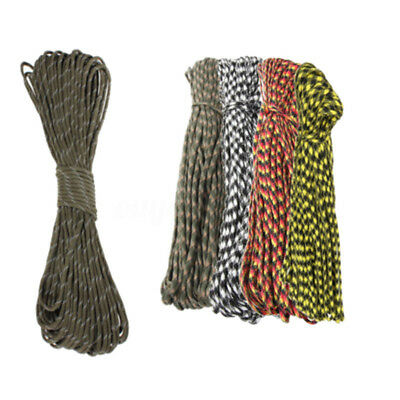 100FT 550lb Nylon Paracord Parachute Cord String Rope Outdoor Camping Hiking *