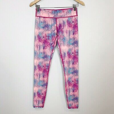 IVIVVA (By Lululemon) Girls Size 14 Pink Patterned RHYTHMIC LEGGINGS Full Length