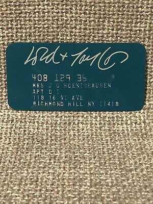 Lord & Taylor Department Store Vintage Collectors Credit Card
