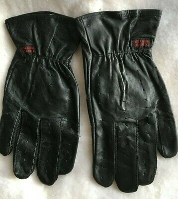 Tourmaster Driving Gloves Black Leather Sz M New No Tags