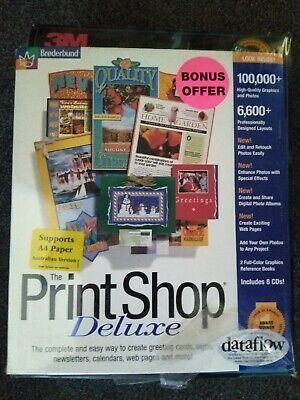 The Print Shop Deluxe 6.0 PC CD ROM with BONUS PACK