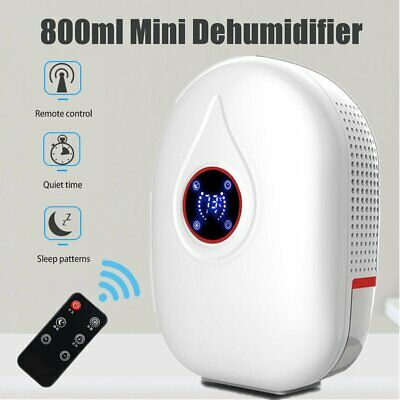 800ml Mini Dehumidifier Portable Bedroom Basement Home Air Dryer Machine 22W