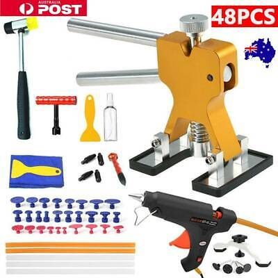 48× AU PDR Paintless Dent Puller Lifter Hail Removal Tools Car Body Kit Glue Gun