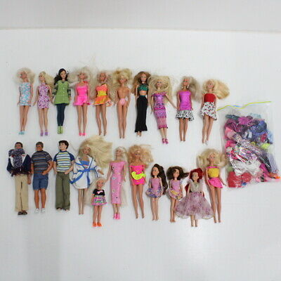 Mixed Mattel Barbie & Ken Dolls With Clothes & Accessories #552