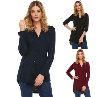 Women Fashion V-Neck Long Sleeve Lace Patchwork Button Top GDY7 02