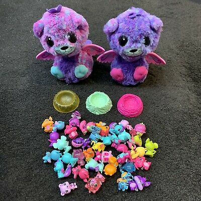 Hatchimals Surprise Twin Pink Purle Pea Cats And 36 Small Hatchimals Figures