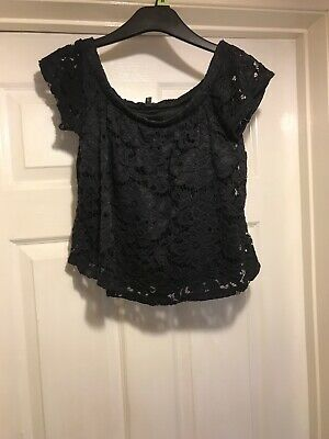Ladies /girls Size 6 River Island Lace Crop Top